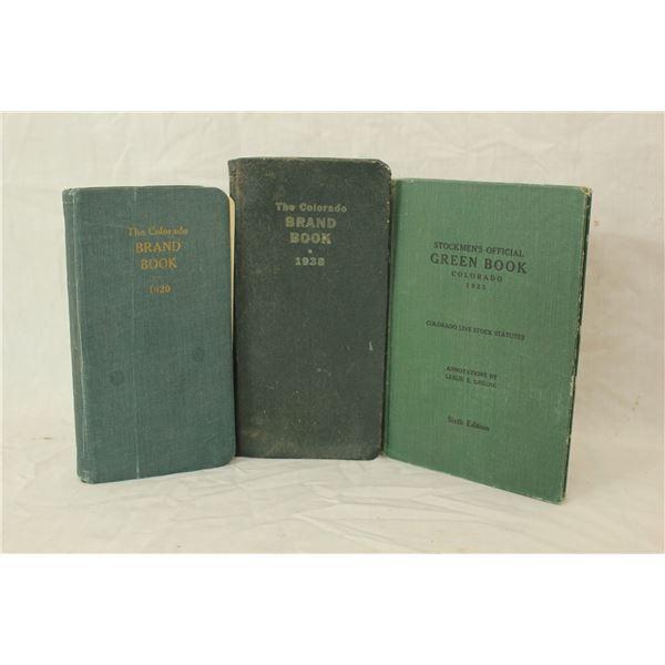 Three Colorado Brand Books