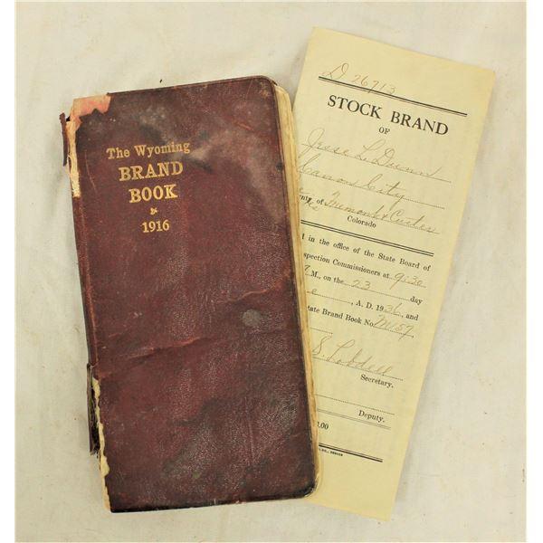 1916 Wyoming Brand Book