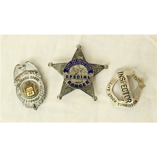 Group of Livestock Inspector Badges