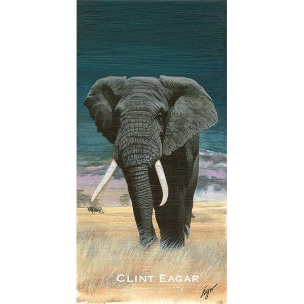 """SCI 2021 Print of the Year, """"Big Bull Elephant"""" by Clint Eagar w/o framing"""