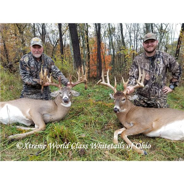 """3-day/3-night, SCI 180"""" to 200"""" class Whitetails Hunt for 2 hunters"""