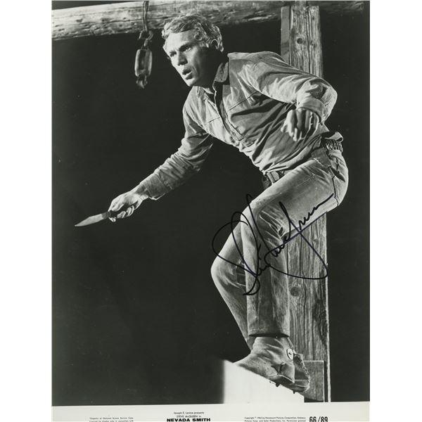 """Steve McQueen """"Bullit signed movie photo"""