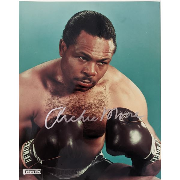 Archie Moore signed photo