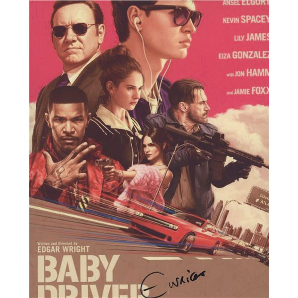 """Edgar Wright signed """"Baby Driver"""" movie photo"""