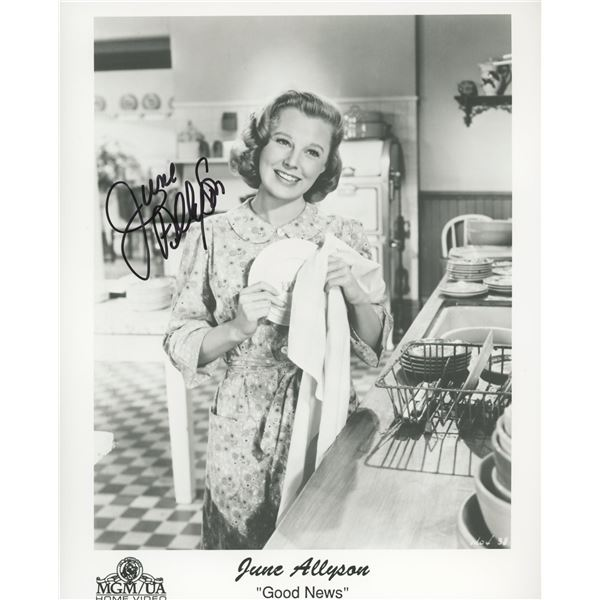 "June Allyson signed ""Good News"" movie photo"