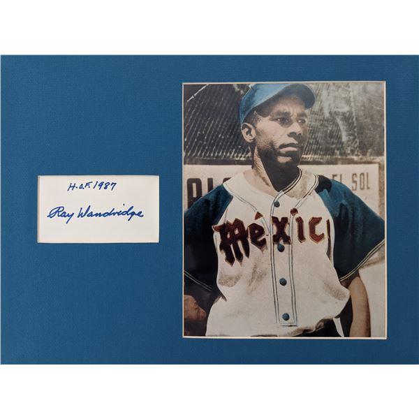 Ray Dandridge Hand Signed Autograph & Photo Matted Display