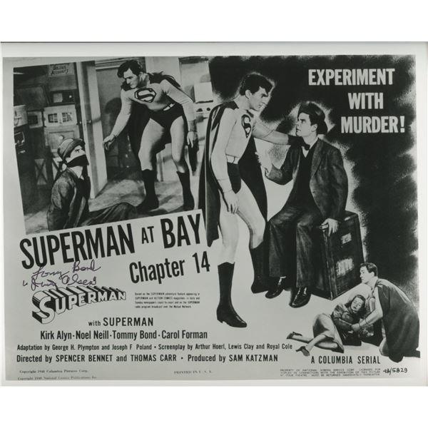 Superman Tommy Bond / Jimmy signed photo