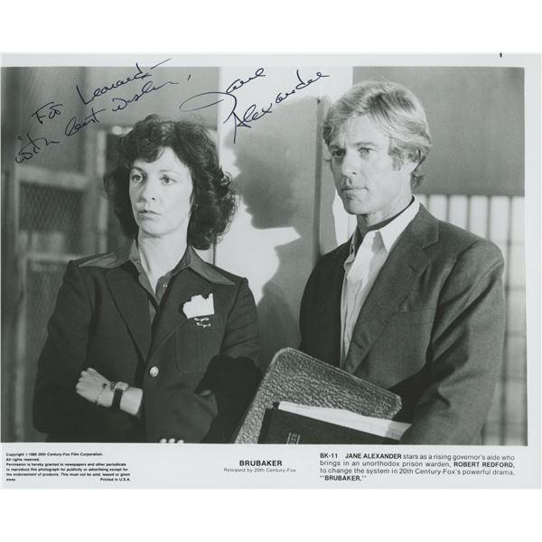 "Jane Alexander signed ""Brubaker"" movie photo"