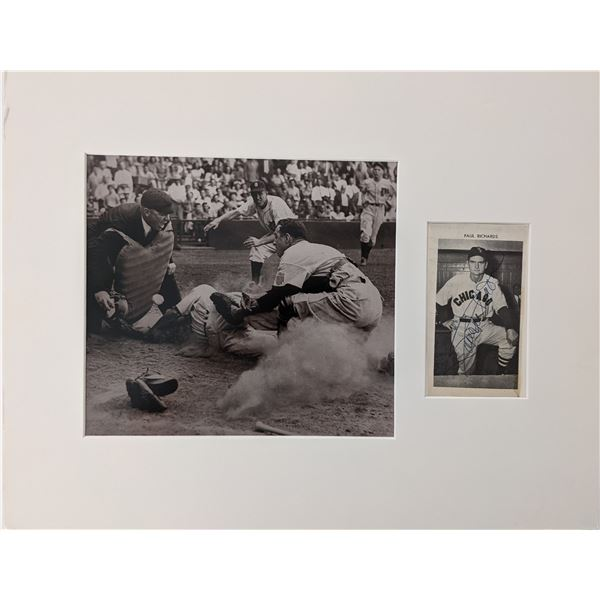 Paul Richards signed matted photo display