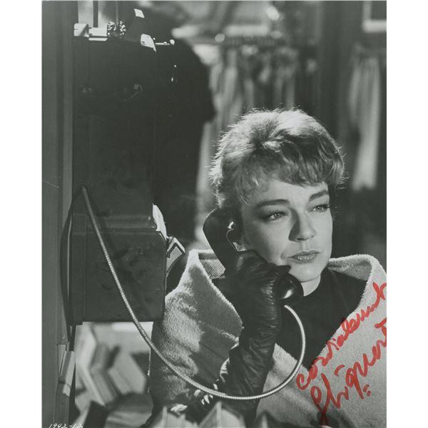"Simone Signoret signed ""Games"" movie photo"