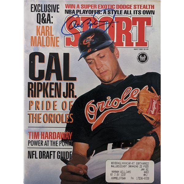Cal Ripken Jr. Orioles signed 1992 Sport Magazine