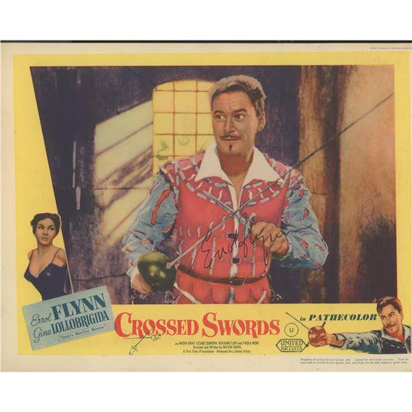 "Errol Flynn signed ""Crossed Swords"" movie photo"