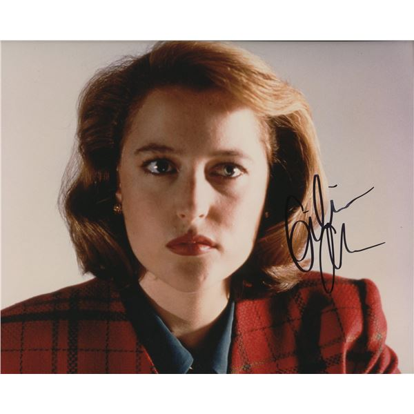 """Gillian Anderson signed """"The X-Files"""" photo"""