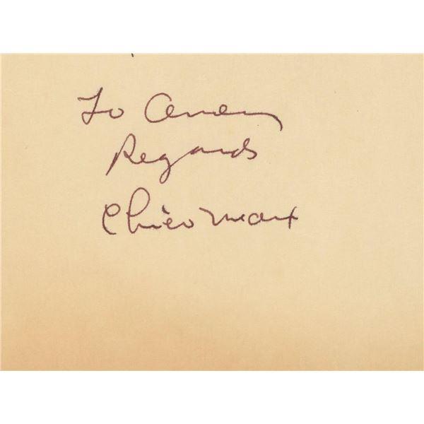 Chico Marx signature cut