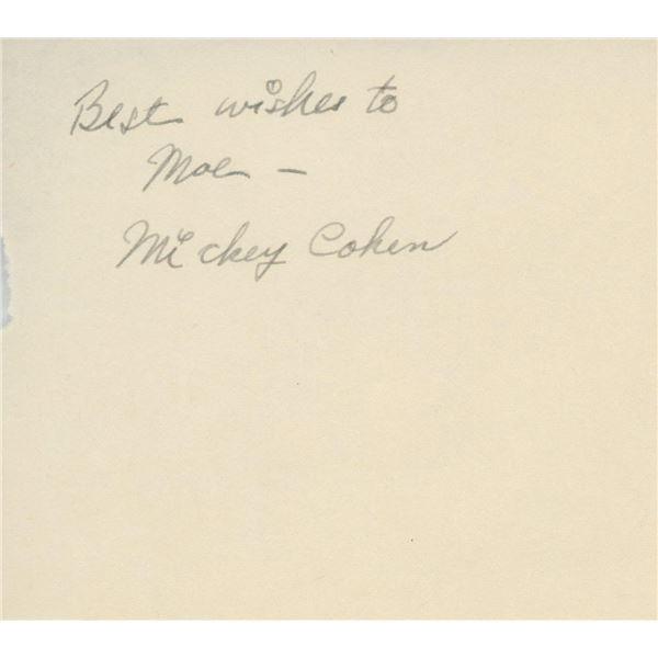 Gangster Mickey Cohen signature cut