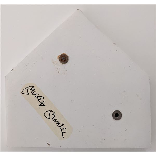 Mickey Mantle signed baseball home plate