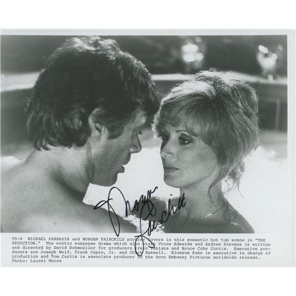 "Morgan Fairchild signed ""The Seduction"" movie photo"