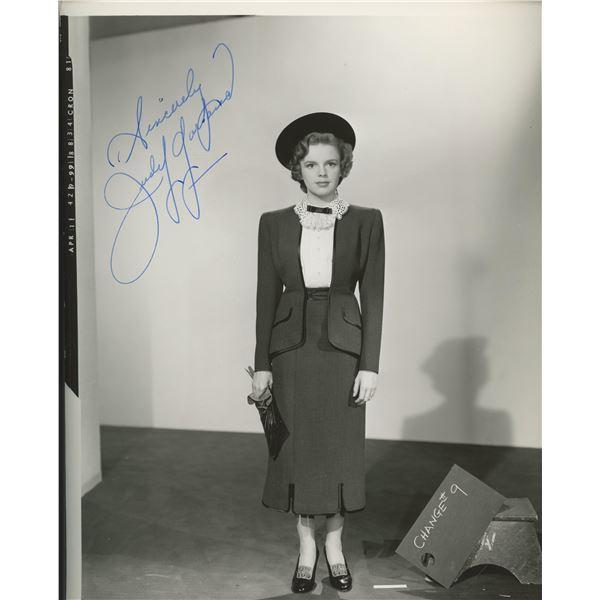 Judy Garland signed photo