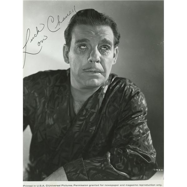 Lon Chaney Universal Monster signed photo