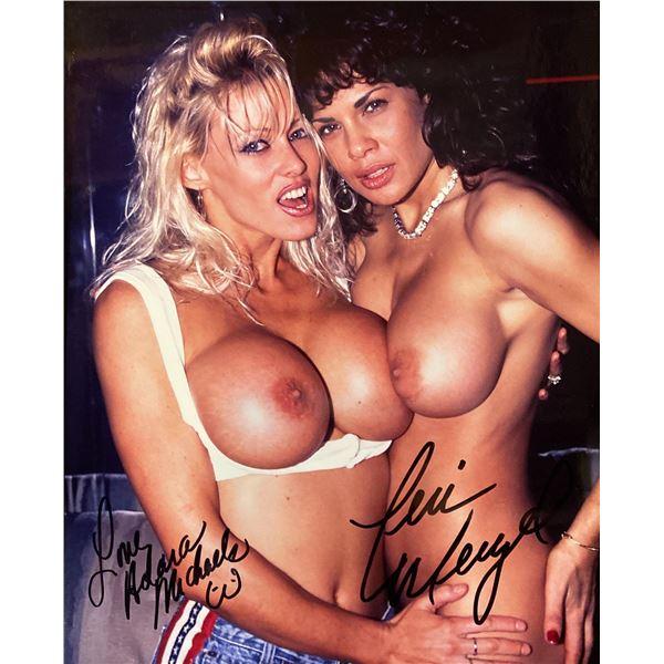 Teri Weigel & Adara Michaels signed photo