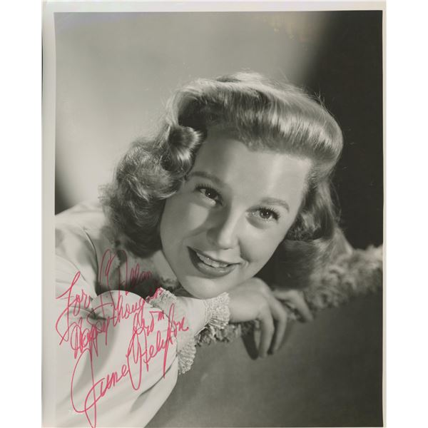 June Allyson signed photo