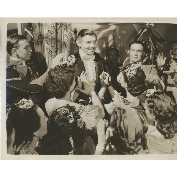 Clark Gable signed photo