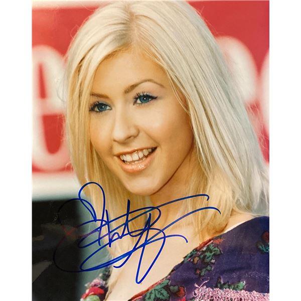 Christina Aguilera signed photo