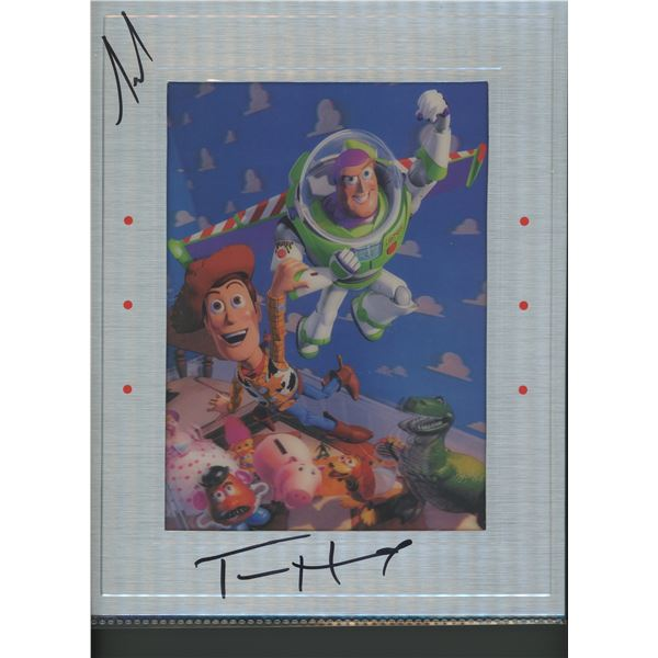 Toy Story signed lenticular movie photo