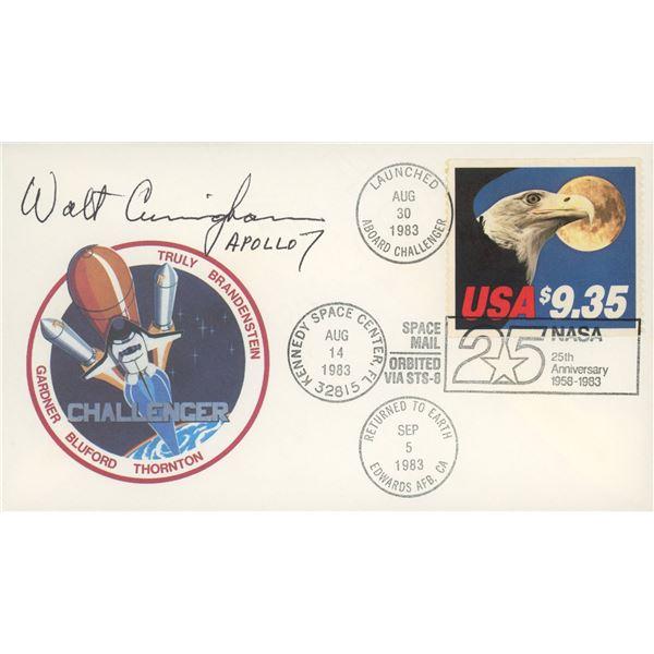 USPS/NASA ST-8 (Challenger) Walt Cunningham signed Flight Cover.