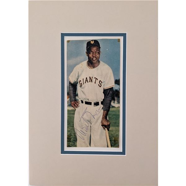 Monte Irvin signed matted photo