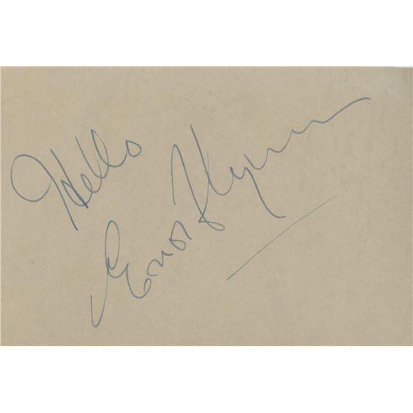 Errol Flynn original signature