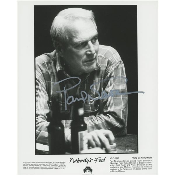 Paul Newman signed movie photo