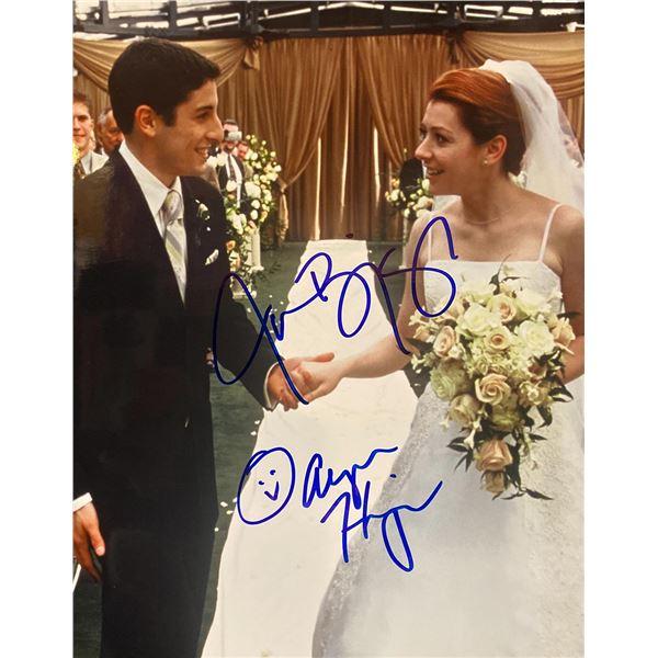 American Wedding Jason Biggs and Alyson Hannigan signed movie photo