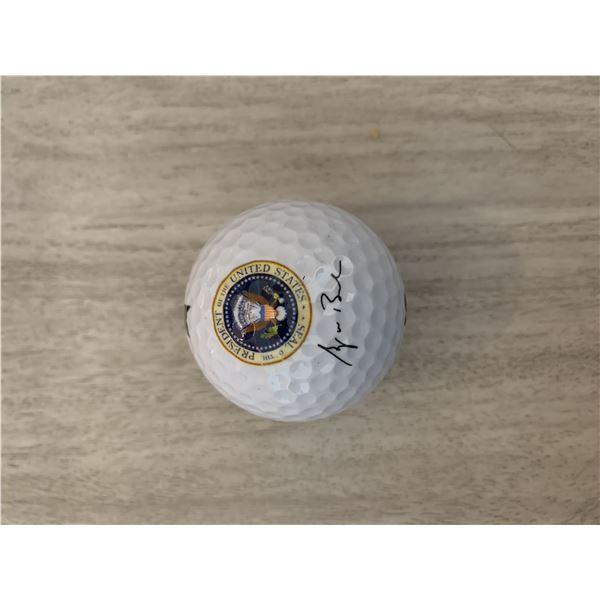 George W. Bush facsimile signed Presidential golf ball