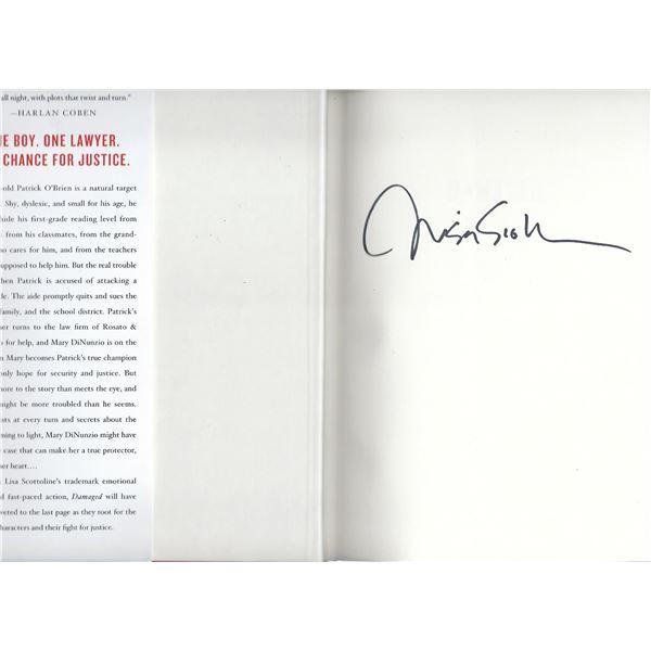 Damaged Lisa Scottoline signed book