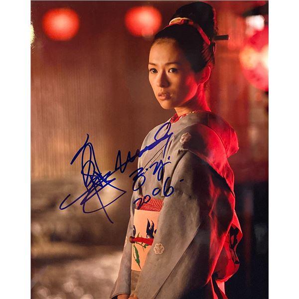 Zhang Ziyi signed photo