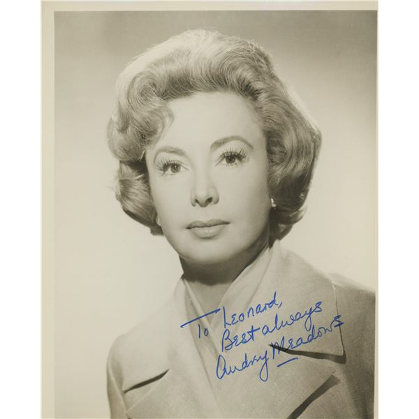 Audrey Meadows signed photo
