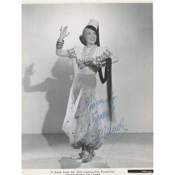 Carmen Miranda signed photo