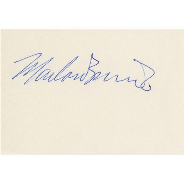 Marlon Brando signature cut
