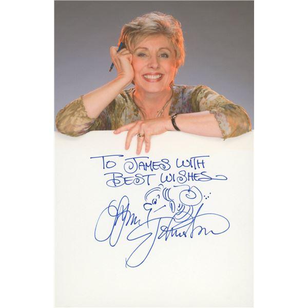 Lynn Johnston signed note