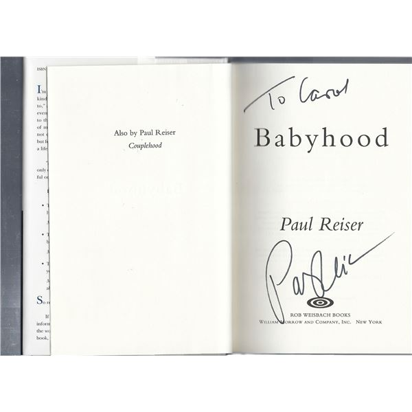 Paul Reiser Mad About You signed book