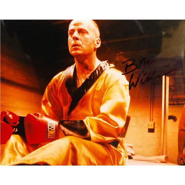 Pulp Fiction Bruce Willis signed movie photo