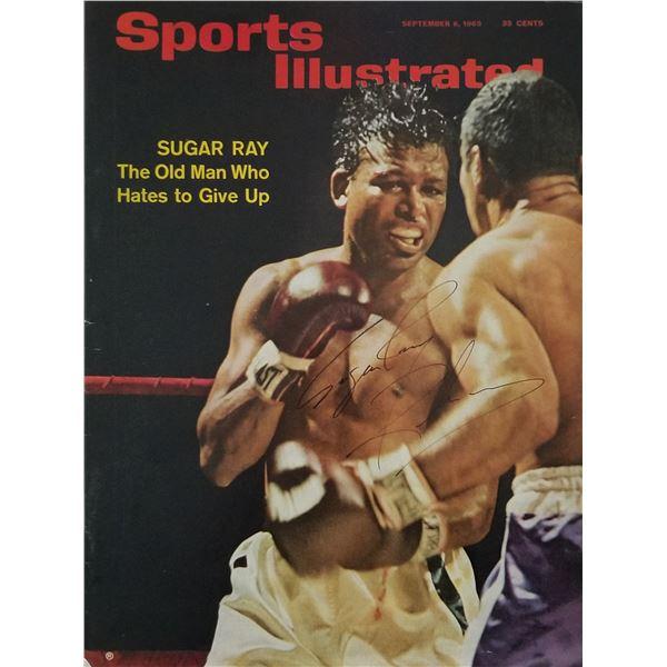 Sugar Ray Robinson signed Sports Illustrated magazine