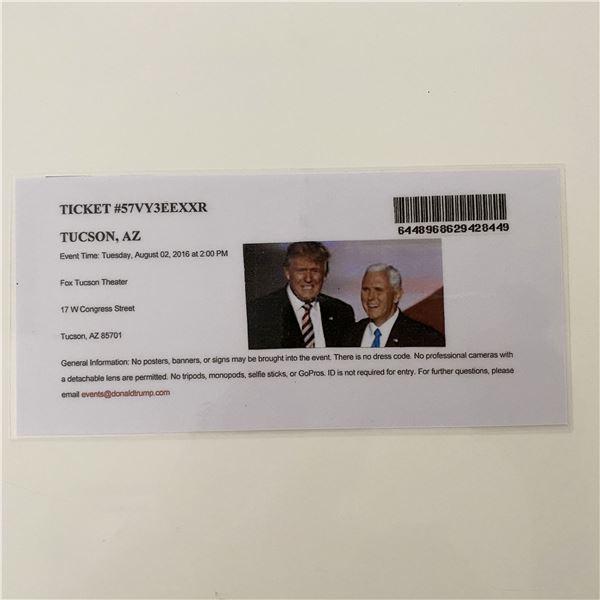 Donald Trump 2016 MAGA Rally Event Ticket- Arizona