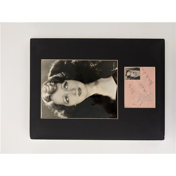 Hedda Hopper original signature and photo display