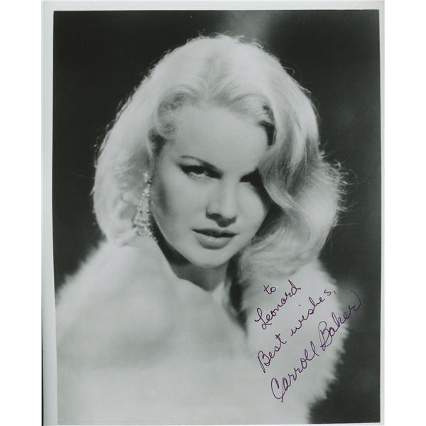 Carroll Baker signed photo