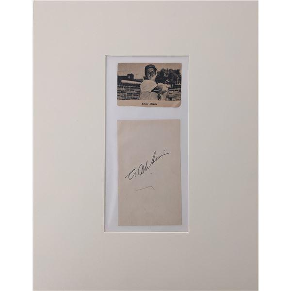 Eddie Miksis original signature and photo