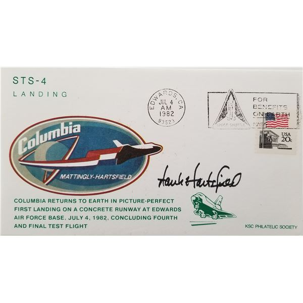 Henry Hartsfield signed Space Shuttle Columbiaenvelope