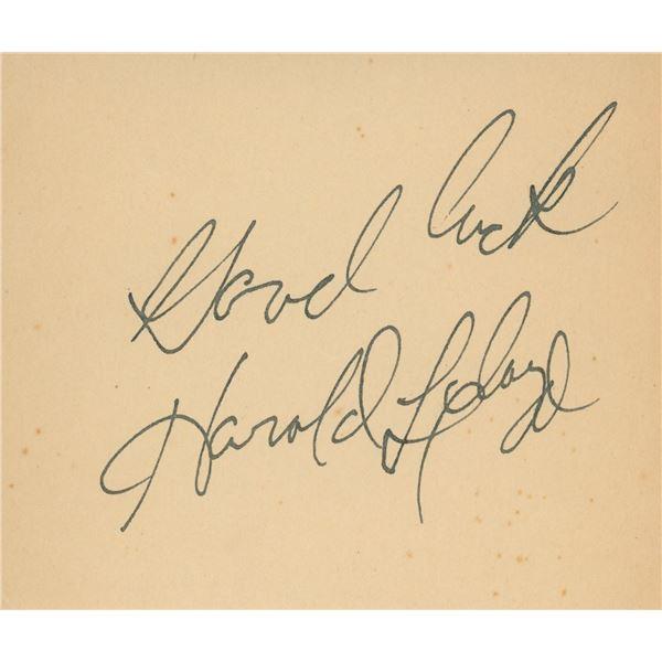 Harold Lloyd signature cut