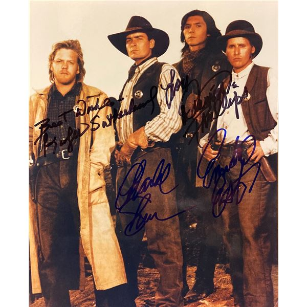Young Guns cast signed movie photo